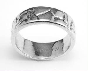 Sterling Silver Band free form line design # 8991