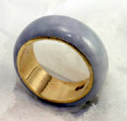 lavender jadeite jade eternal Band, 18 K Gold # 9717