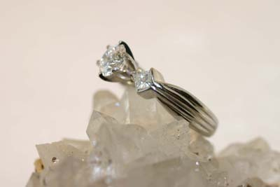 Platinum Engagement Ring with Diamonds
