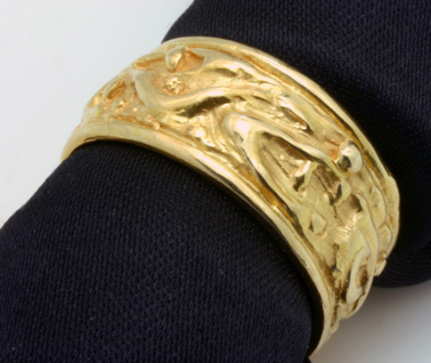 "Gold Band, 14 Karat, One of a Kind, ""Doodling"""