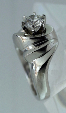 Platinum Ring with Diamond - Special Order # 4247