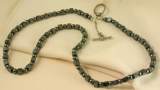 "Hemitate Necklace, 20"" S. Silver Clasp, $142 #6853"
