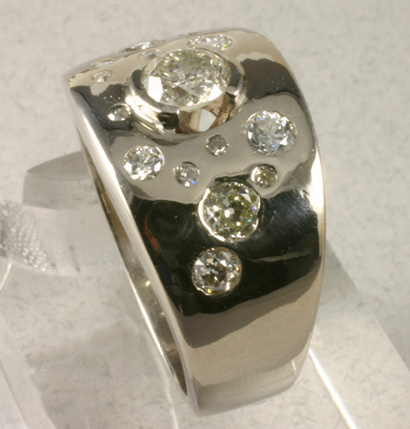 Ring, White Gold, Diamonds- Special Order