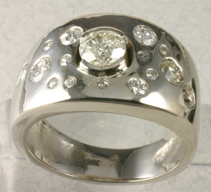 Special Order Ring with Diamonds not for sale