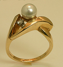 Ring 14K Akoya Cultivated Pearl