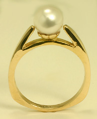 Ring, 14K Yellow Gold, Akoya Cult. Pearl 7777