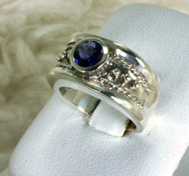 Ring Sterling Silver, Tanzanite # 7937