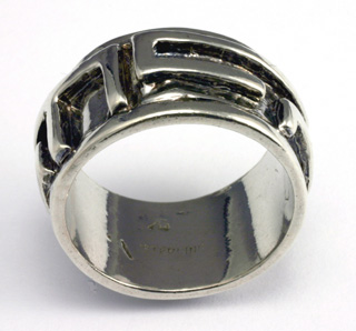 Sterling Silver Band, Built up straight Line #8988