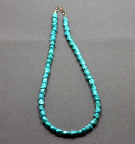 Beaded Turquoise necklace $128-#5085